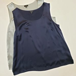2 Talbots silk tanks. Size 16. 100% silk.